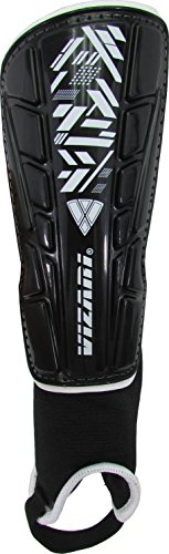 Vizari Malaga Shin Guard, Black/White, - Guard Soccer Shin