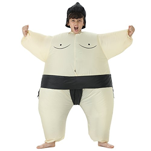 TOLOCO Inflatable Kids Sumo Wrestler Wrestling Suits Halloween Costume - One Size Fits Most