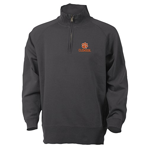 NCAA Clemson University Benchmark 1/4 Zip, XX-Large, Graphite
