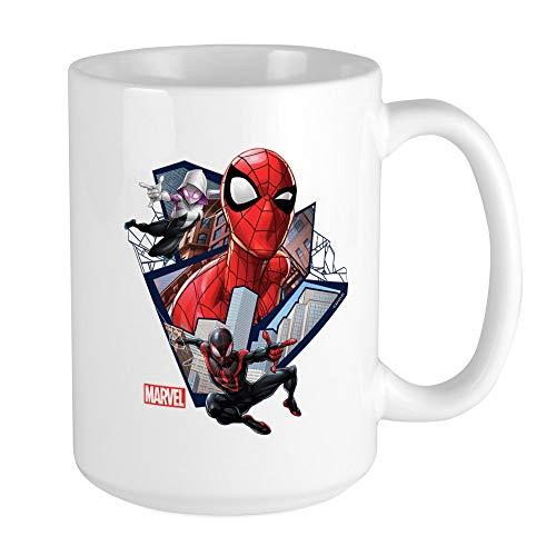 CafePress Spider Man Trio Large Mug Coffee Mug, Large 15 oz. White Coffee Cup