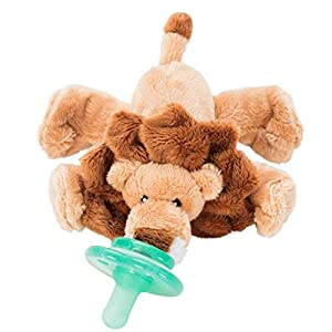 Nookums Paci-Plushies Buddies – Lion Pacifier Holder – Adapts to Name Brand Pacifiers, Suitable for All Ages, Plush Toy Includes Detachable Pacifier