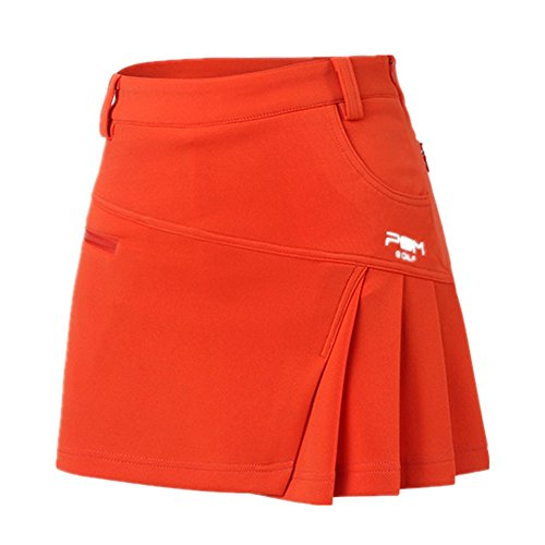 意味スラム街つばJP Flyer ゴルフ スカート レディース ファッション コットン ストレッチ インナーパンツ付き 無地 軽量 通気性 静電気防止 ピリング防止加工 プリーツスカート