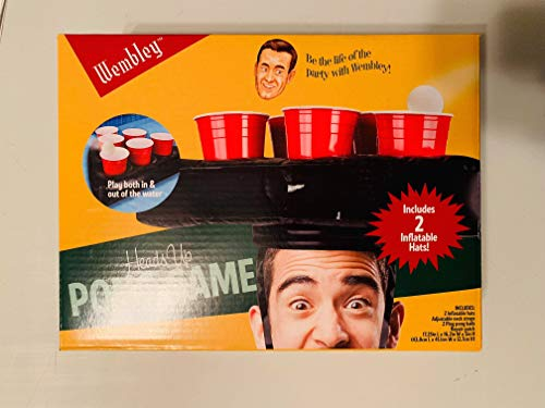 Wembley Heads Up Beer Pong Game 2 Inflatable Hats New in Box