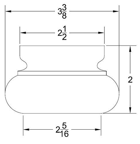 Highland Manor Wood Products Wyndfield Bunfoot (Maple) - 2'' Tall x 3 3/8'' Diameter