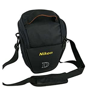 JYC Camera Case Bag For Nikon D90 D5000 D3000 D3200 D3100 D5100 D800 D7000 D3S D3 D4, Black