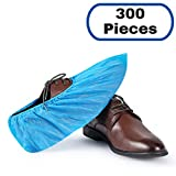 MIFFLIN Disposable CPE Shoe Covers (300 Pieces) Waterproof Durable Boot Covers Shoe Protector Booties One Size Fits Most