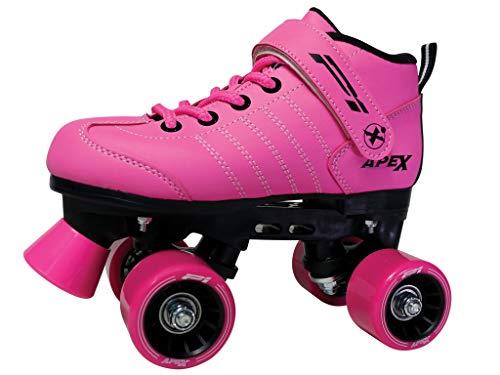Lynx Apex Kids Quad Roller Rink Skate Pink 10J ()