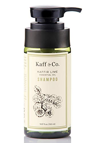Kaffir Lime Essential Oil Anti Dandruff Shampoo - Non Toxic Hair & Scalp Care - Natural Treatment for Dandruff, Flaking, Itchy & Dry Scalp - No Paraben, No SLS, SLES