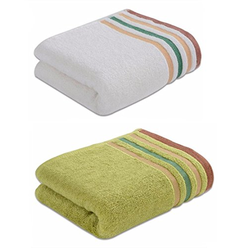 NO.1987 commerce Bamboo fiber Hand Towel Face Towel Set,2-pack Adult Hand Towels, Size 13