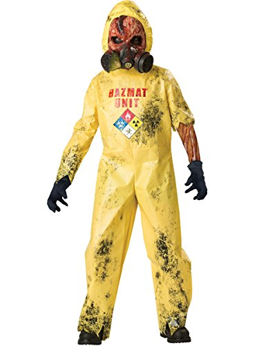 InCharacter Costumes, LLC Boys Size 12 Hazmat Hazard Jumpsuit, Yellow, X-Large