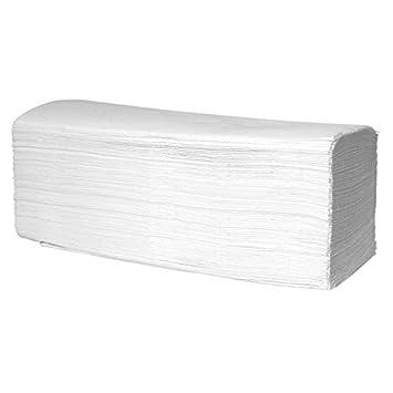3200 Handtuchpapier 2-lagig hochweiß Zellstoff Papierhandtücher ZZ-Falz