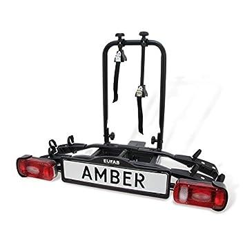 Eufab Amber II - Plataforma portabicicletas para bola de enganche de 2 bicicletas