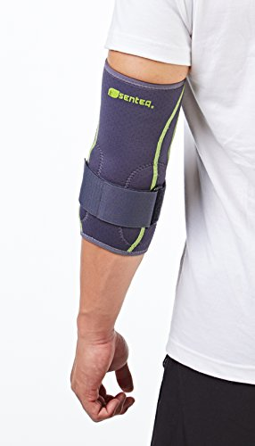 SENTEQ Tennis Golf Elbow Brace Sleeve - Medical Grade & FDA Approved. TPR GEL for Support & Comfort, Decrease Swelling, Inflammation Reduces Pain. Fits Either the Left or Right Forearm (SQ2 N007 S) by SENTEQ (Image #1)