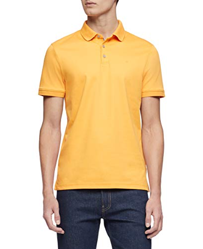 Calvin Klein Men's Liquid Touch Polo Solid with UV Protection, Icelandic Poppy, Medium (Best E Liquid Shop)