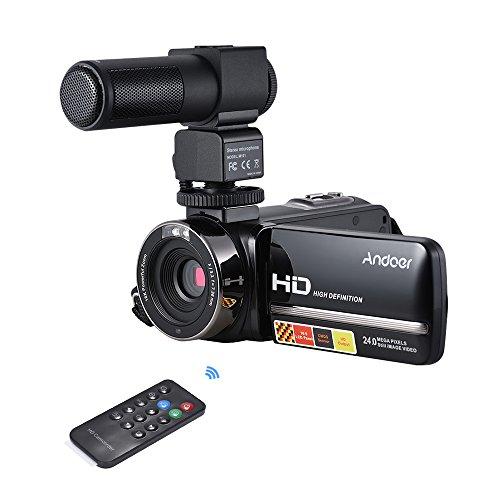 Camera Camcorder, Andoer HDV-3051STR Portable 24MP Digital V