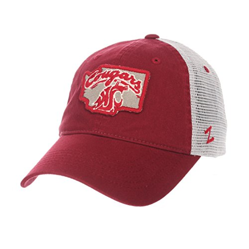 (Zephyr NCAA Washington State Cougars Men's Freeway Relaxed Cap, Adjustable, Team Color)