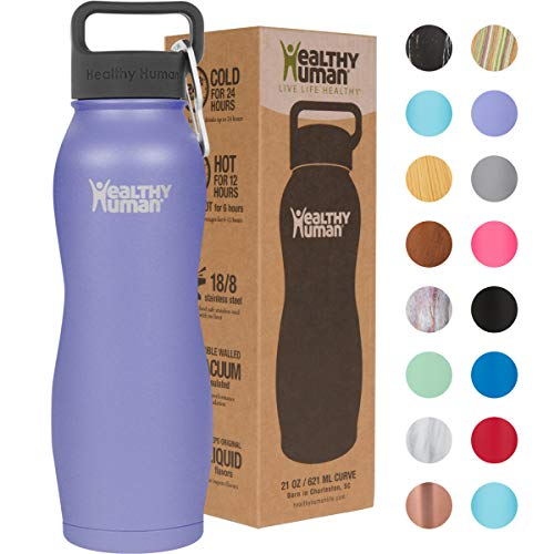 Healthy Human Insulated Stainless Steel Water Bottle Curve