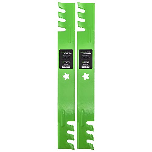 8TEN LawnRAZOR Mulching Blade Set for Craftsman 134149 138971 138498 Husqvarna Poulan 42 Inch Decks from 8TEN