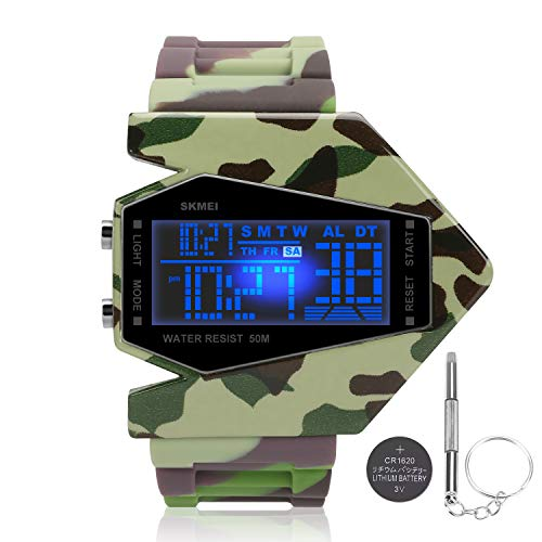 Boys Watches for Kids Ages 5-7 8-13 Years Led Toys Digital Military Waterproof Alarm Noctilucent Teen Army Camoflauge Stopwatch Reloj]()