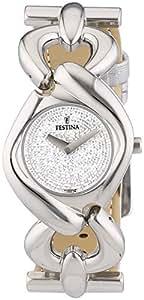 Festina Trend Lady F16545/1 - Reloj analógico de cuarzo para mujer, correa de cuero color blanco