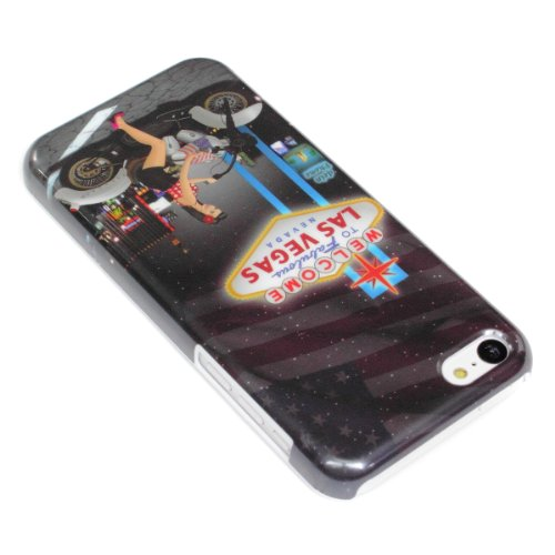 DeinPhone coque de protection pour apple iPhone 5C étui de las vegas pin up