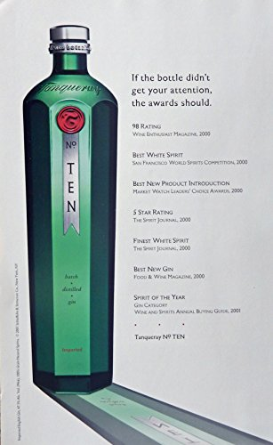 tanqueray-no-ten-gin-vintage-print-ad-color-illustration-green-bottle-original-magazine-art