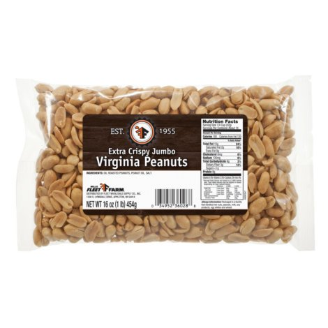 Mills Fleet Farm Extra Crispy Jumbo Virginia Peanuts - 16 Oz. (Fleet Farm)