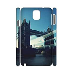 3D Samsung Galaxy Note 3 Cases Tower Bridge London 4 Protector for Girls, Case for Samsung Galaxy Note 3 Evekiss, [White]