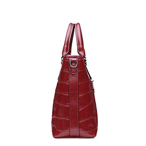 DISSA para Medium Bolso Charol de al hombro mujer Rojo BHwBq