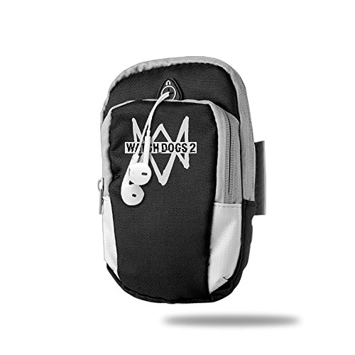 Outdoor Sport Watch Dogs 2 Video Game Multifunctional Casual Arm Package Bag Cellphone Mobile Phone Armbands Black