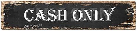SP0023 CASH ONLY Street Sign Bar Store Shop Pub Cafe Home Room Chic Decor