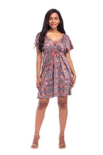 Party Mini Neck Crystal Cheap Women's Dresses jiang Size L V Short Floral w0B8Iq0