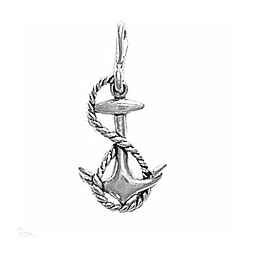 (Sterling Silver Double Sided Anchor Charm Item #26)