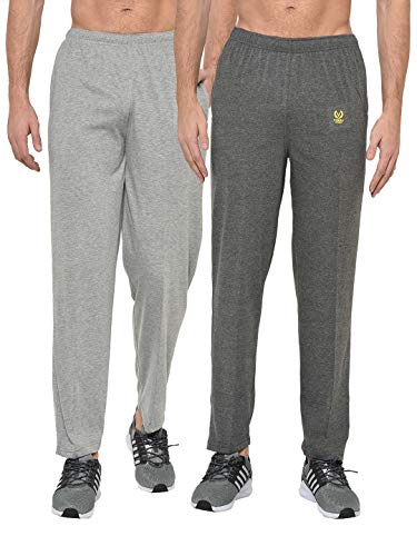 VIMAL JONNEY Men's Skinny Fit Trackpants (Pack of 2) (D10AD10M-XXL_Multicolored_XX-Large)