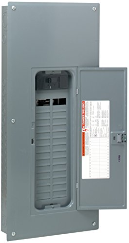 Square D by Schneider Electric HOM3060M200PC Homeline 200 Amp 30-Space 60-Circuit Indoor Main Circuit Breaker Load Center with Cover (Plug-on Neutral Ready), , by Square D by Schneider Electric