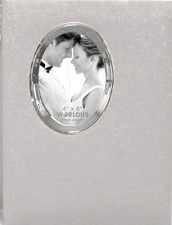 Amazoncom 300 Pocket 3 Up White Wedding Bookbound Photo Album