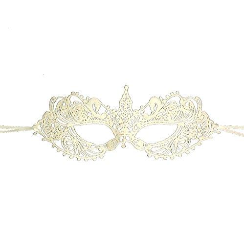 Samantha Peach Ivory Goddess Lace Masquerade Mask