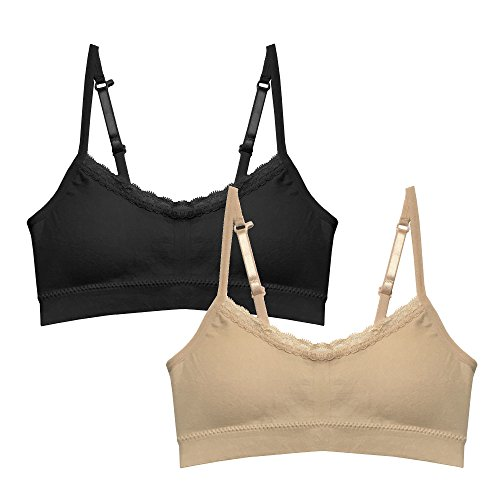 Popular Girl's Seamless Cami Bra with Adjustable and Convertible Straps -Value Pack