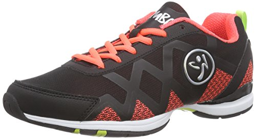 Zumba Footwear Zumba Flex Ii Remix - Zapatillas de gimnasia Mujer Naranja (black/neon orange)