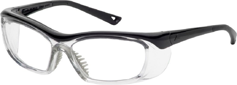 OnGuard Safety Eyewear OG 220S Nylon Frames Goggles Black / Clear 58mm-15mm-135mm Large