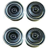 GHGW Replaces Trailer Axle Dust Cap Cup Grease Cover & Plug RV Camper Utility 1.98'(4 Pack)