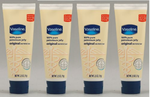 Vaseline Petroleum Jelly, Original 2.5 Ounce (Pack of 4) -