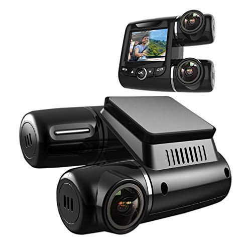 Pruveeo PV2 Dash Cam Dual FHD 1920x1080P Front and Cabin, Dash Camera for Cars Uber Lyft Truck Taxi Drivers Pruveeo
