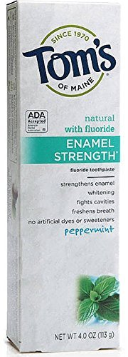 Tom's of Maine Enamel Strength Natural Toothpaste - 4 oz - Peppermint - Buy Packs and Save (Pack of 2)