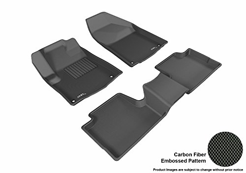 3D MAXpider L1JP01001509 Complete Set Custom Fit All-Weather Floor Mat for Select Jeep Cherokee Models - Kagu Rubber (Black)