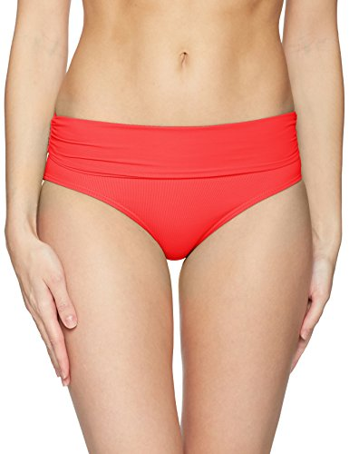 Cole To Red Convertible Over Bas Shirred De Anne Bikini Fold Femme High waist Bottom pqXHpdxw1