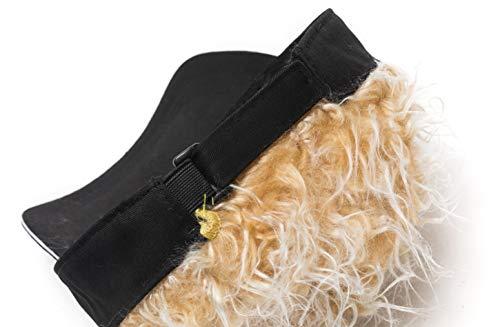 Men\'s Novelty Flair Hair Visors Spiked Funny Golf Hats Fake Wig Peaked Adjustable Baseball Caps Black Golden