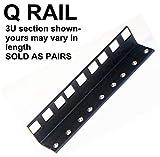 08U steel server rack rail with 3/8'' square holes, 2U-45U, (Q08UA) Starcase.com