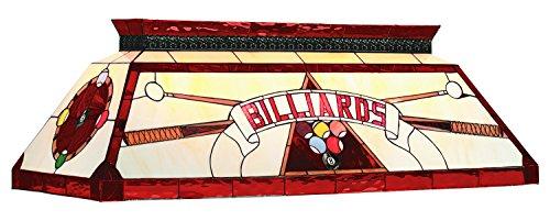 44In. Tiffany Billiard Light-Red