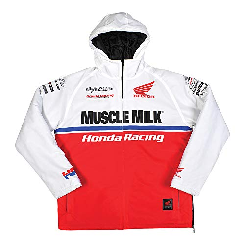 Mens Honda Team Jacket - Troy Lee Designs Men's Honda Muscle Milk Team Jacket (3X-Large, White/Red)